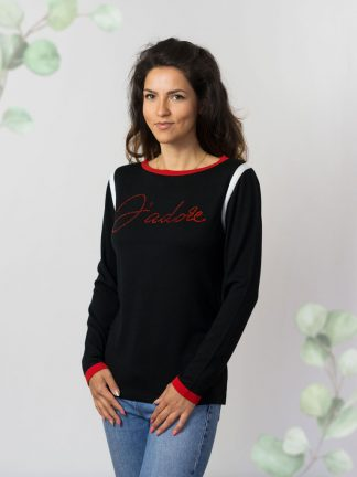 fancy-summer-collection-sweater-with-rhinestone-text-application-Sommerkollektion–Baumwolle