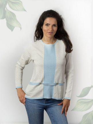 Baumwolle-damen-pullover-fancy-knitting-with-accessories