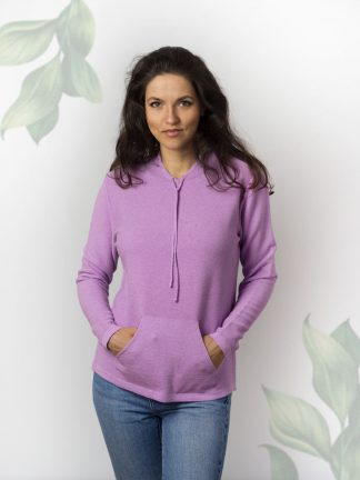 Casual Sport Baumwollpullover für Damen, lavender colour sport cotton knitwear for ladies