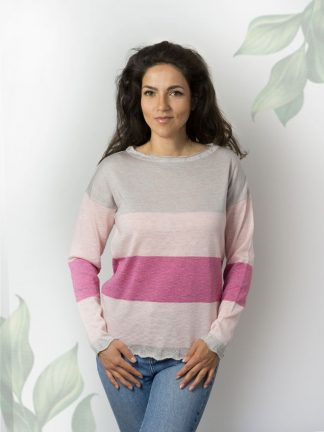 bright colour summer sweater with fancy sparkling yarn, summer collection 2021
