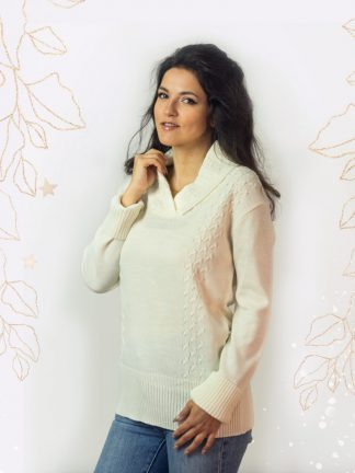 wonderful cable knit sweater with soft touch